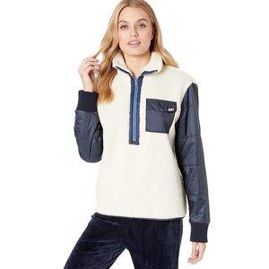Juicy Couture Sherpa & Nylon Mixed Jacket